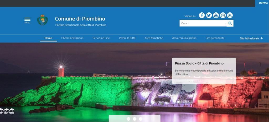 Online il nuovo sito del Comune di Piombino