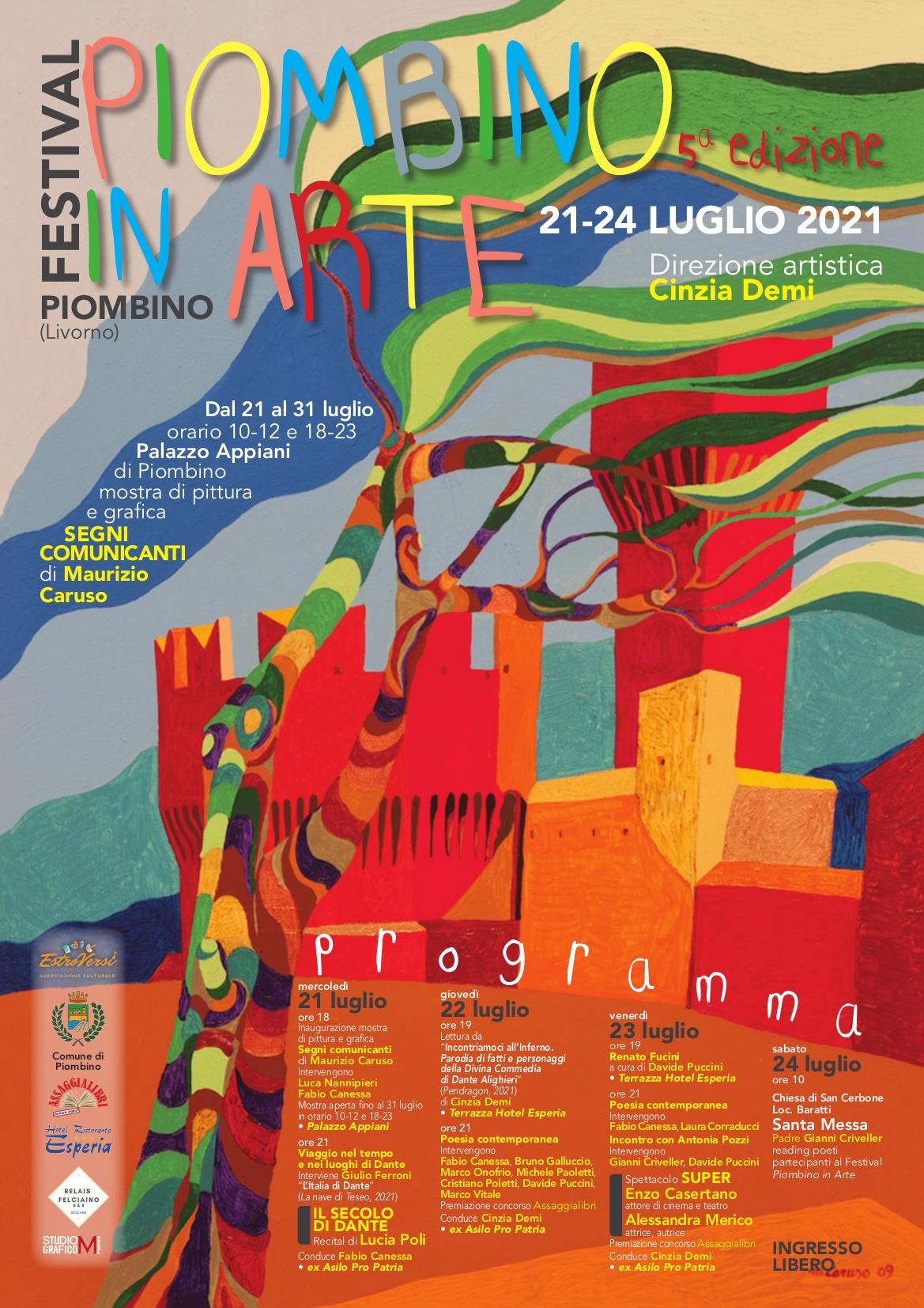 PIOMBINO IN ARTE, DAL 20 AL 24 LUGLIO GLI APPUNTAMENTI DELLA QUINTA EDIZIONE CON IL MEGLIO DELLA POESIA ITALIANA