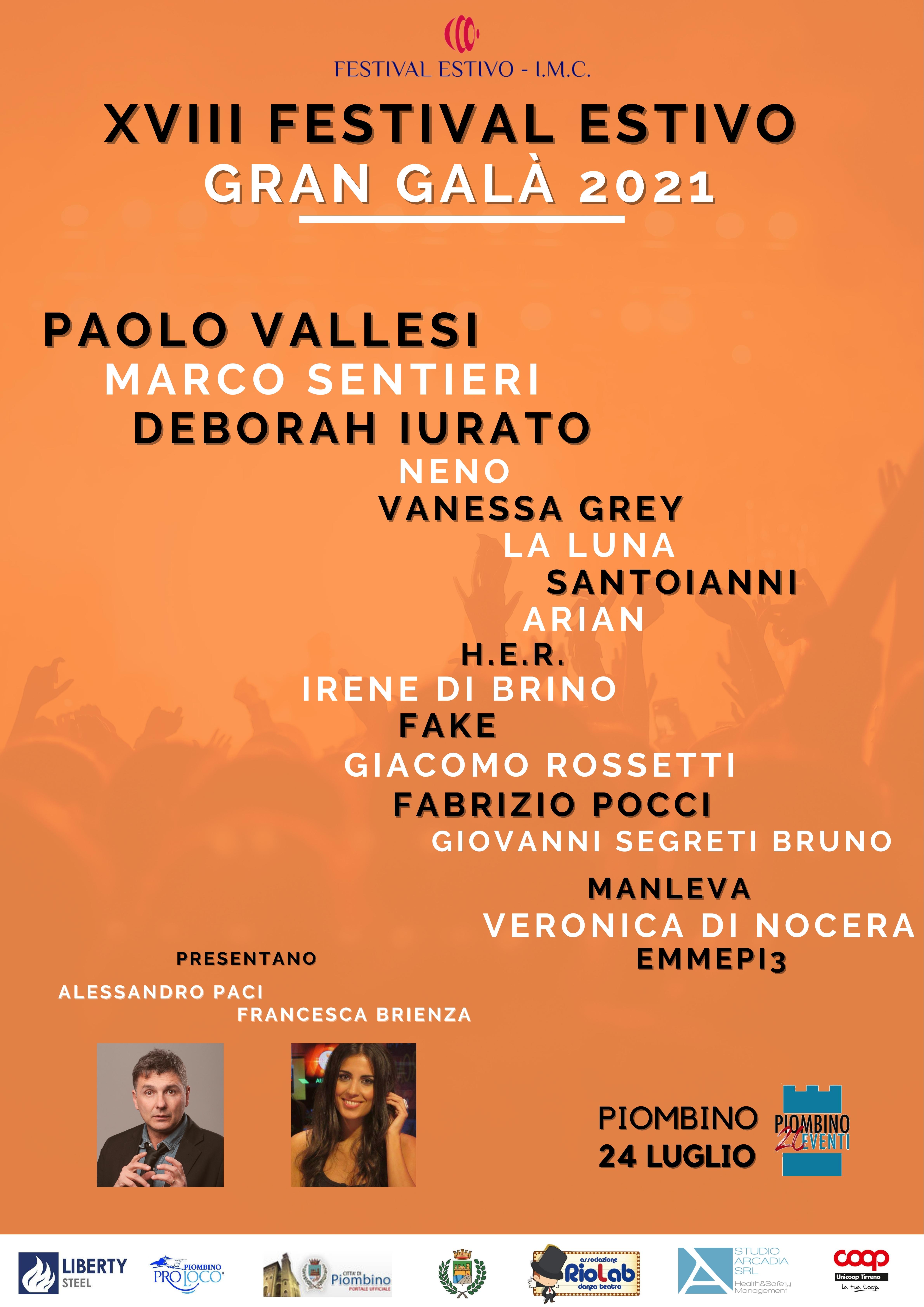 XVIII FESTIVAL ESTIVO – GRAN GALA' 2021
