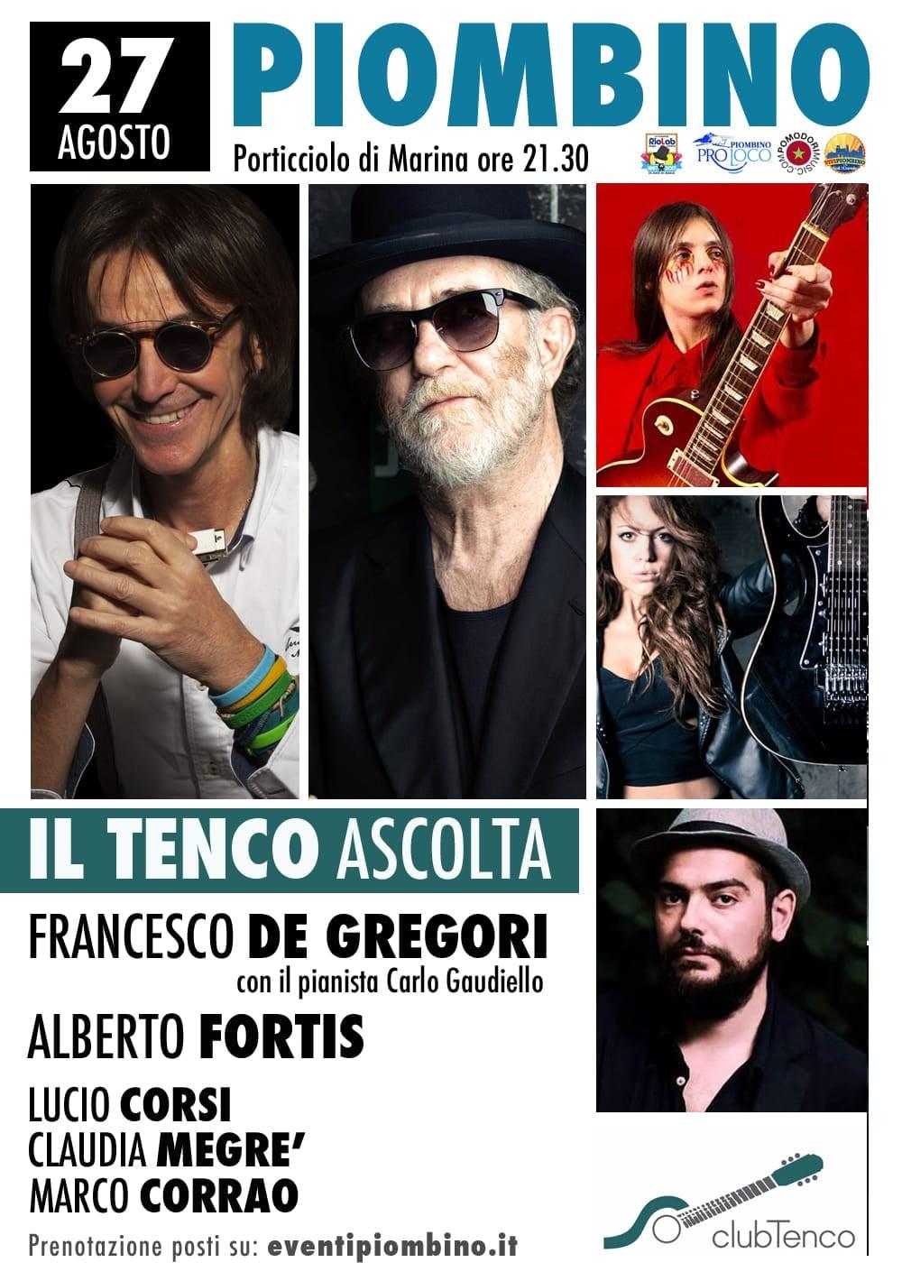 Tutto pronto per il gran finale del Festival 20Eventi: il Tenco Ascolta porta sul palco Francesco de Gregori e Alberto Fortis