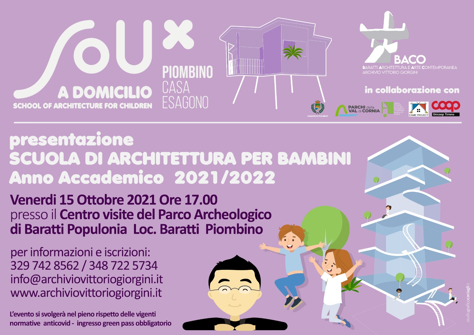 SouxPiombino, la prima scuola di architettura per bambini in Italia