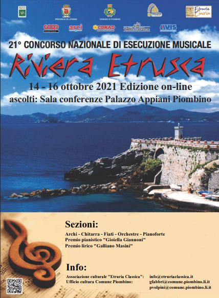 CONCORSO MUSICALE RIVIERA ETRUSCA, VOLGE AL TERMINE IN MODALITÀ ONLINE LA COMPETIZIONE SOSPESA NEL 2020