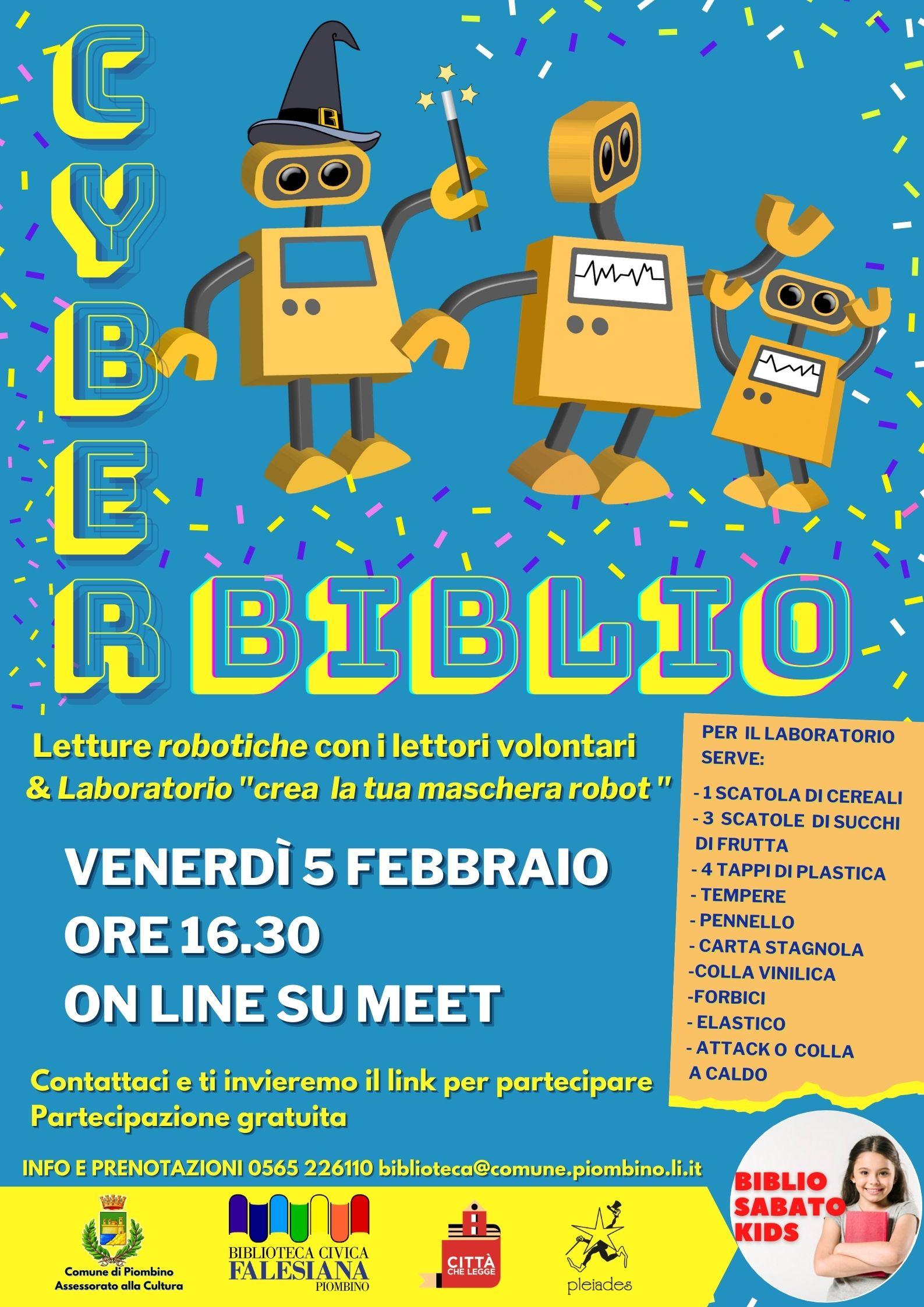 Venerdì 4 febbraio la Bibllioteca diventa Cyber