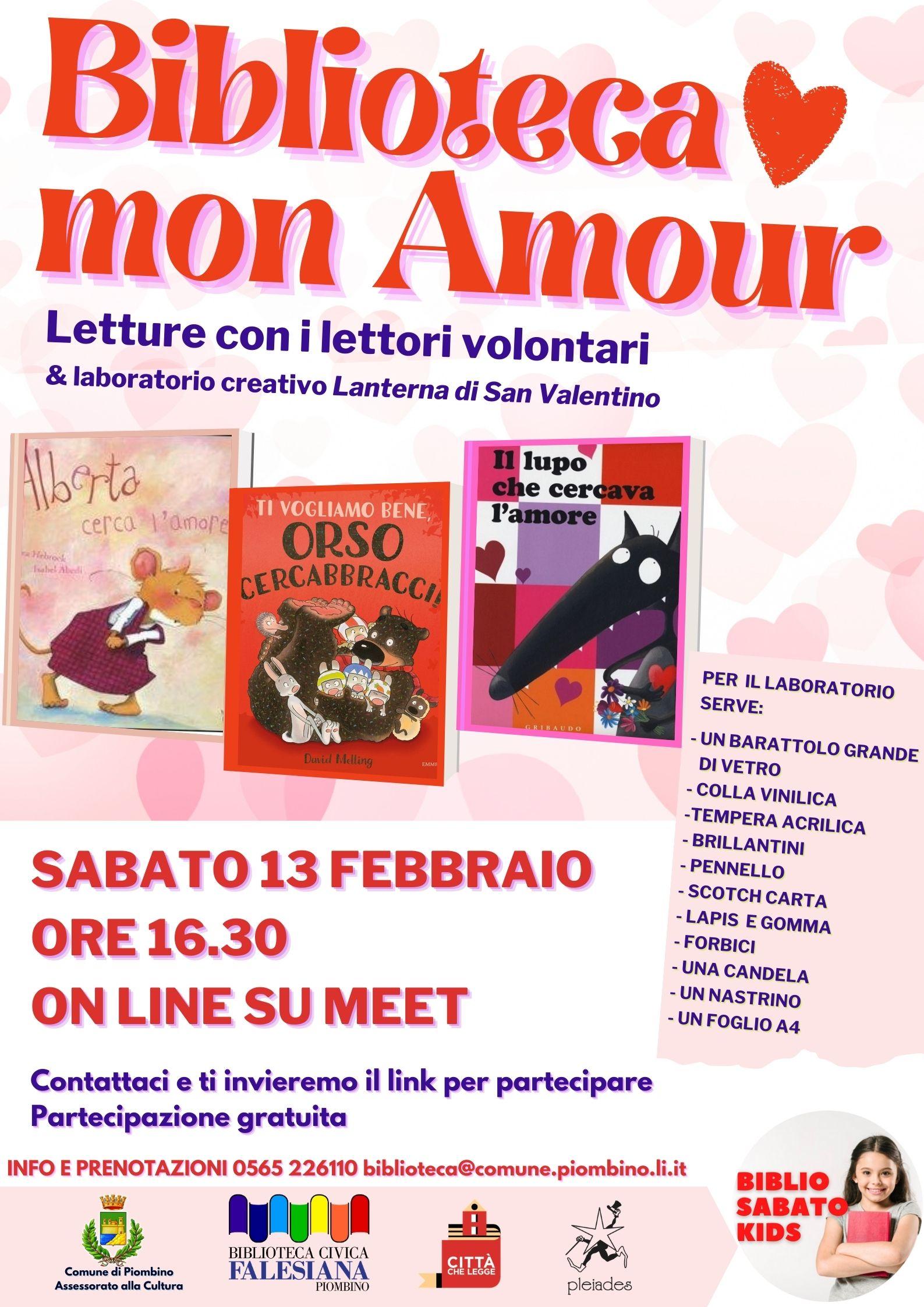 Nuovo appuntamento con il Biblio sabato kids dedicato a San Valentino
