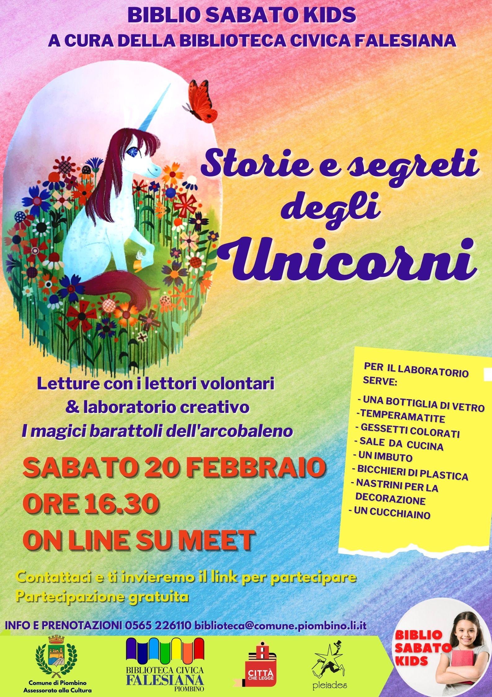 Biblio sabato kids, nuovo appuntamento dedicato agli unicorni