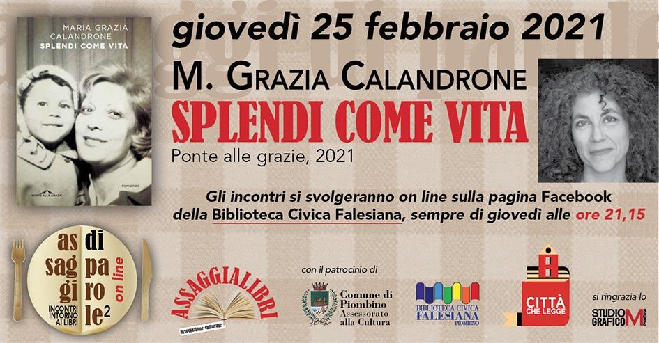 """""""Assaggi di Parole"""", nuovo appuntamento con Maria Grazia Calandrone"""