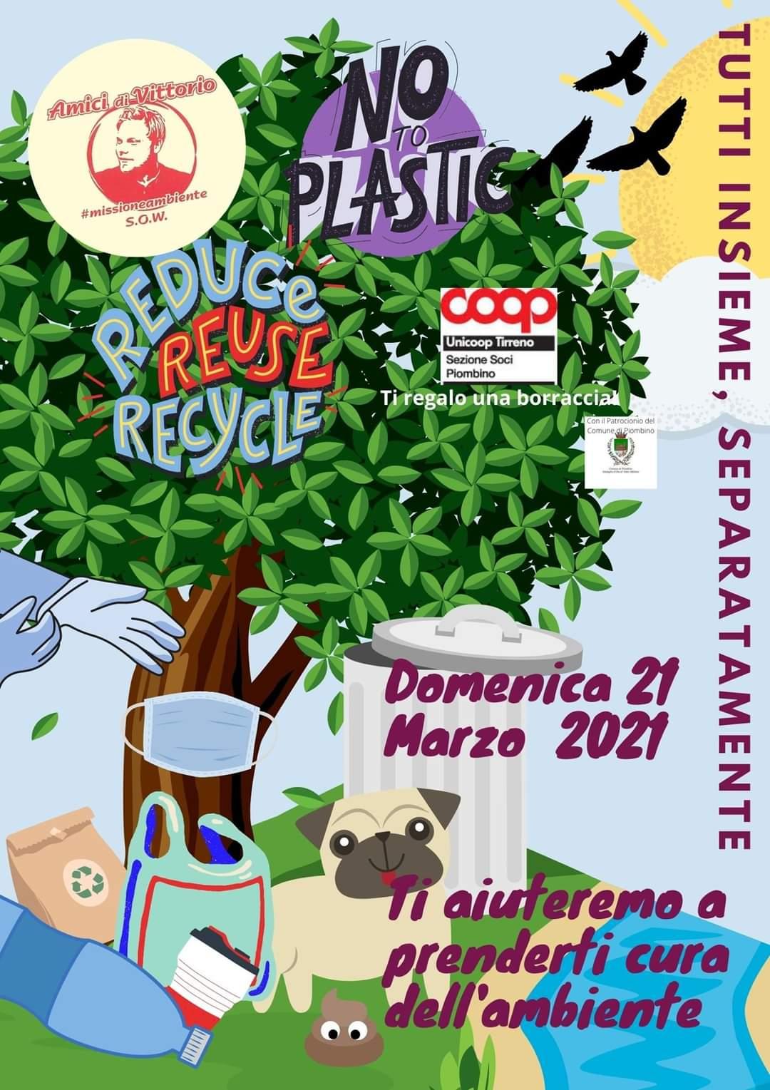 """""""Tutti insieme, separatamente"""": domenica la raccolta di rifiuti collettiva"""