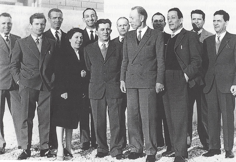 Alcuni membri del consiglio comunale eletto il 10 giugno 1951