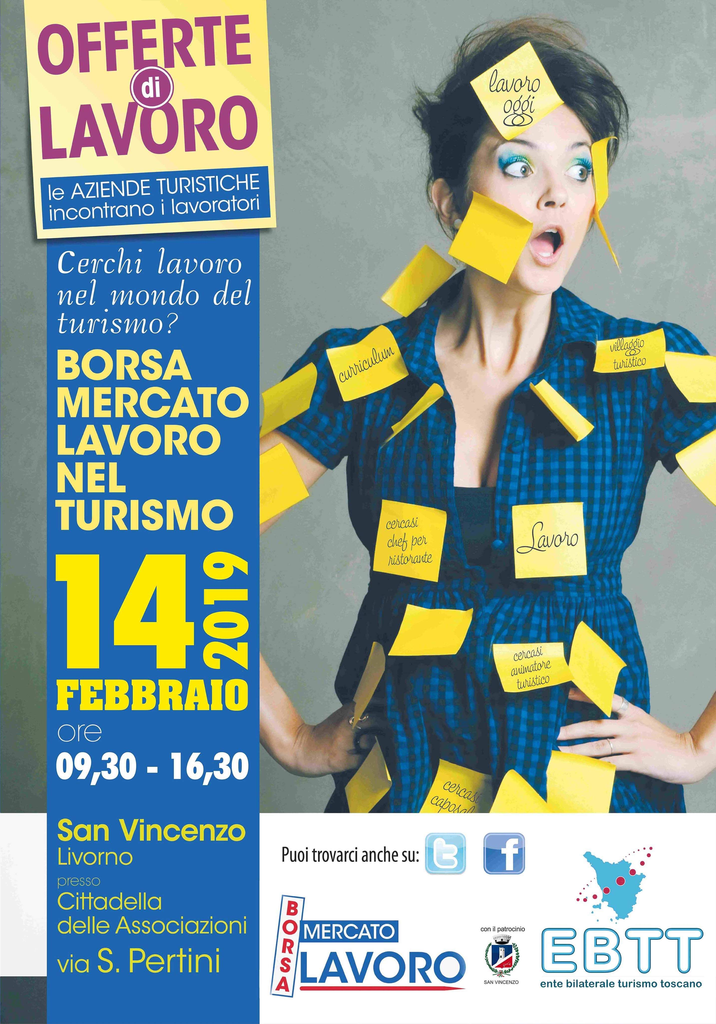 Giovedì 14 febbraio a San Vincenzo Borsa mercato lavoro