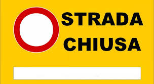 Chiusura strada al transito