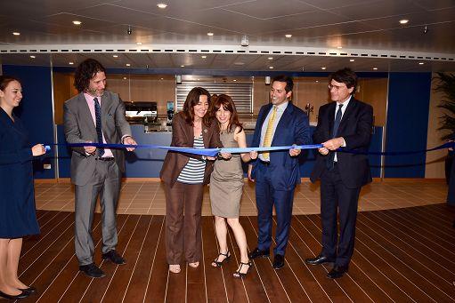 """La """"nuova"""" Cruise Roma della Grimaldi presentata a Barcellona"""