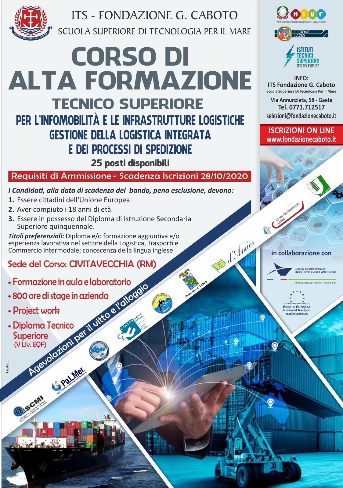 Al via, a Civitavecchia, la prima edizione del Corso Tecnico Superiore per l'Infomobilità e le infrastrutture logistiche