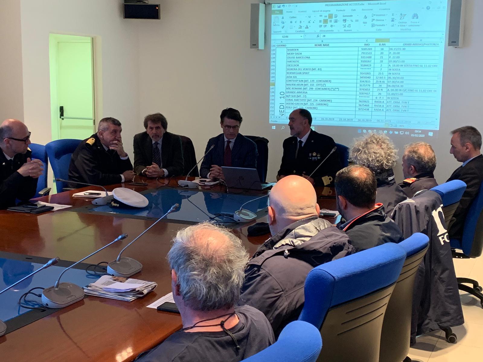 Al porto di Civitavecchia si lavora per un Protocollo Operativo sulle emergenze