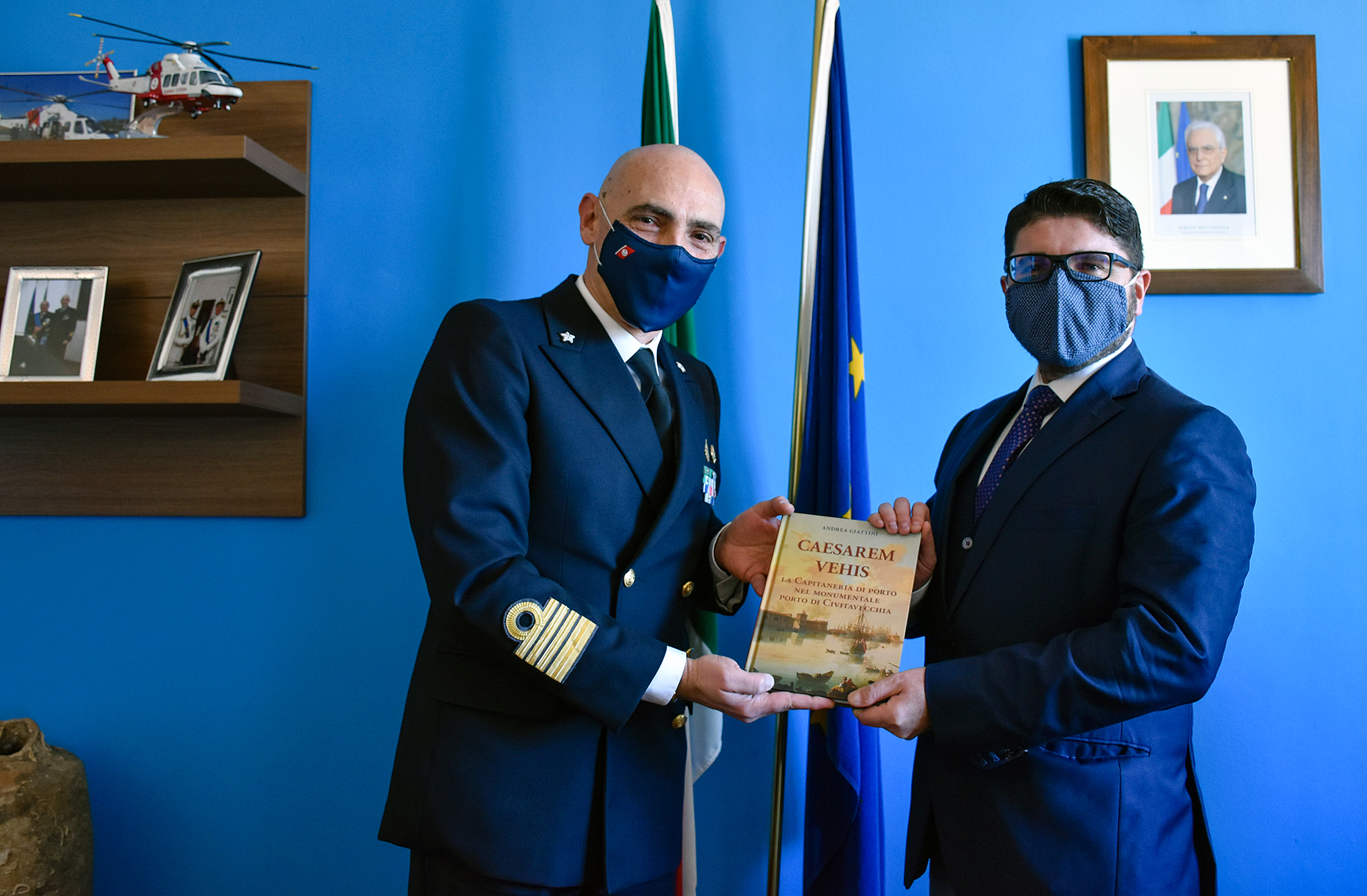 Incontro tra il Presidente dell\'AdSP, Pino Musolino, e il Direttore Marittimo del Lazio, Francesco Tomas