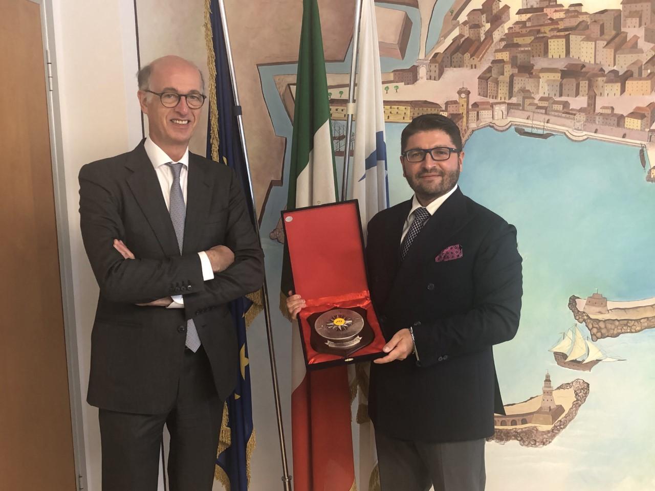L'Ambasciatore del Belgio in visita all'AdSP e a CFFT nella sua prima uscita ufficiale in Italia