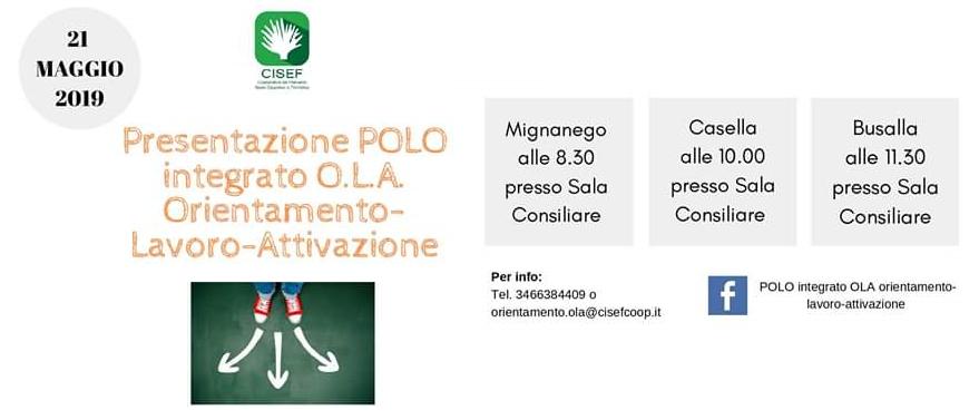 Presentazione POLO Integrato O.L.A. Orientamento-Lavoro-Attivazione