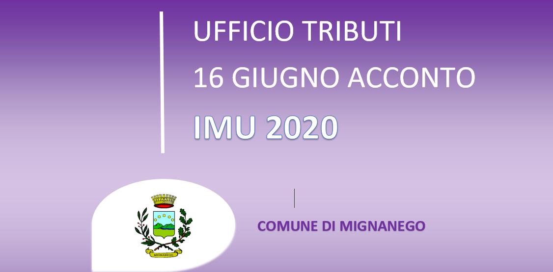 IMU 2020 - SCADENZA ACCONTO 16 GIUGNO 2020