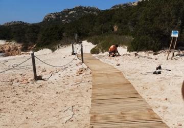 Continuano gli interventi del Parco alla Spiaggia Rosa!