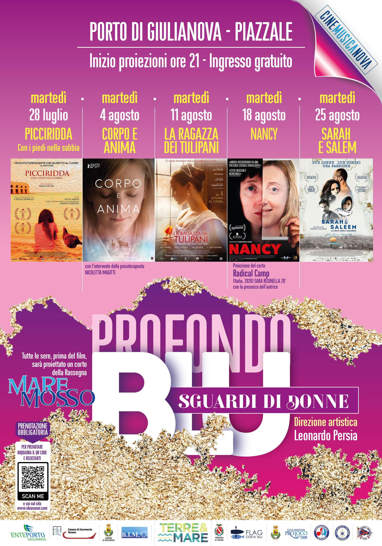 """""""Blu Profondo. Sguardi di Donne"""" Rassegna d\'arte cinematografica all\'aperto nel Porto di Giulianova"""
