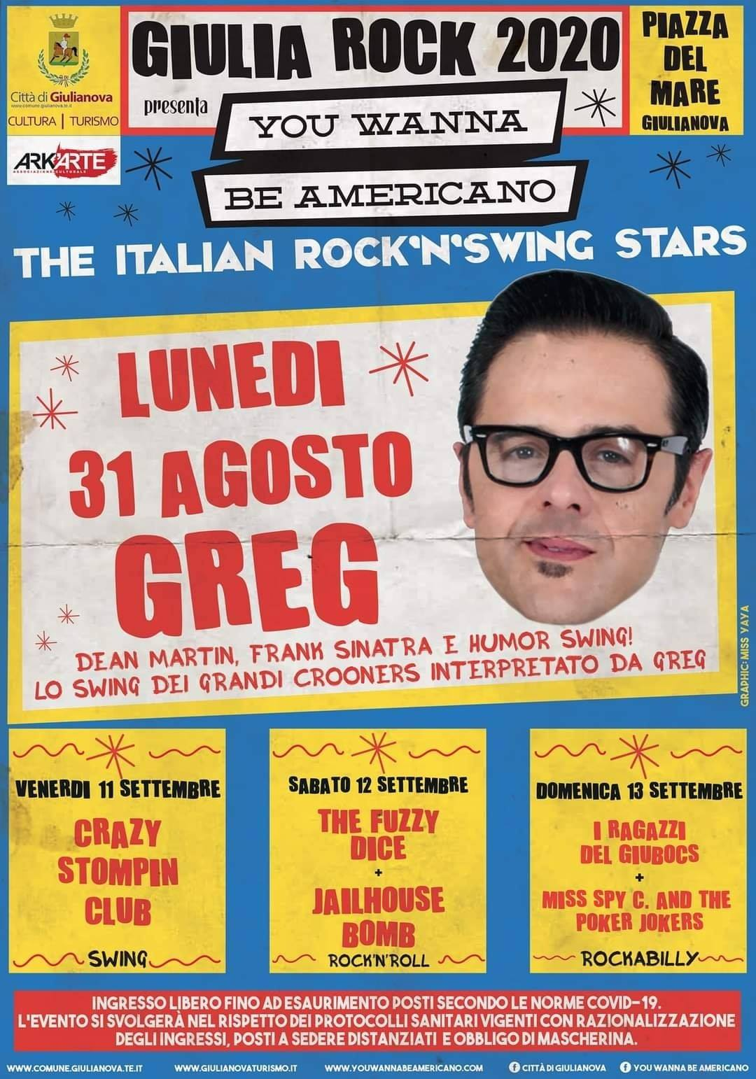 Giulia Rock 2020 - The Italian Rock\'n\'Swing Stars:  I Ragazzi del Giubocs + Miss Spy C. & the Poker Jokers