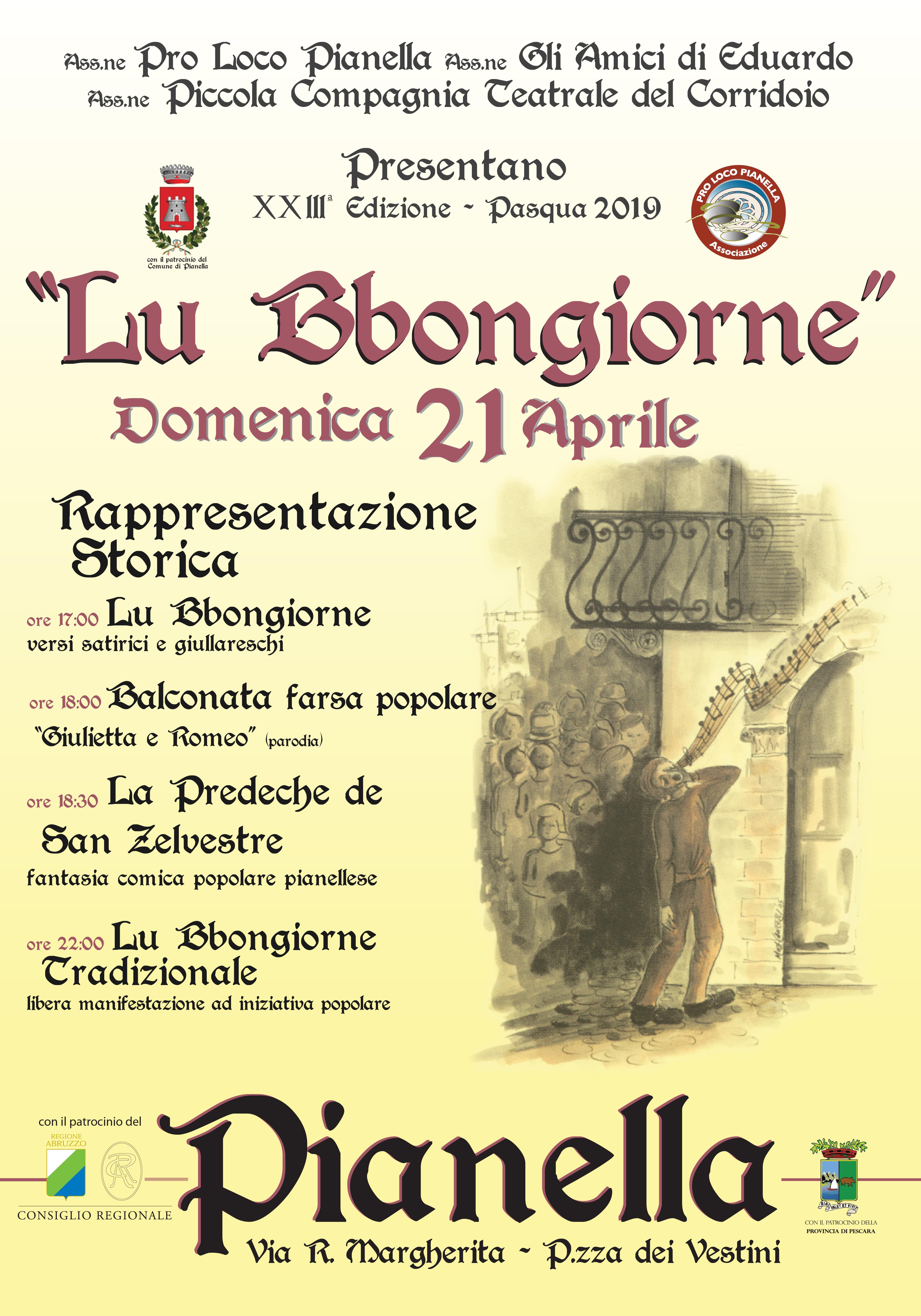 XXIII ed. Rappresentazione Storica de Lu Bbongiorne - Pasqua 2019