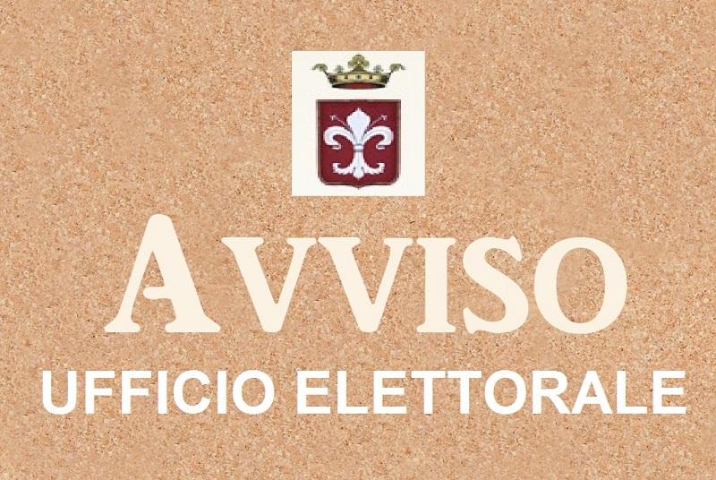 AVVISO: Aggiornamento Albo Presidenti e Scrutatori di seggi elettorali